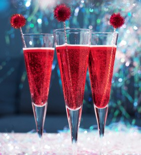 Pomegranate Ginger Champagne – cocktail of the month