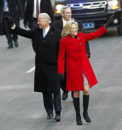 Jill Biden's Boots Were Made For Talking!