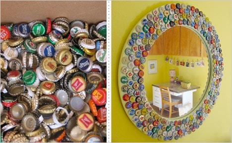 Bottle cap folk art project