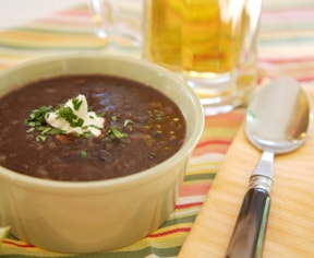 Black Bean Soup & Rice recipe