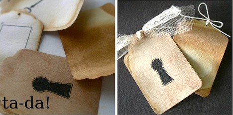 How-To: Antiqued Gift Tags