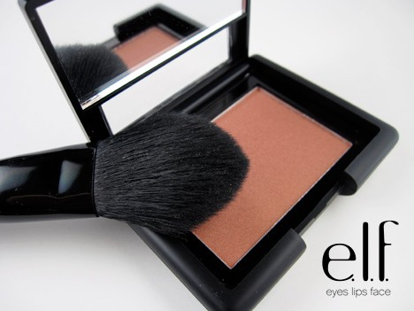 e.l.f. Studio Candid Coral Blush and brush