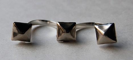 DIY: Triple Stud Ring – a little tough, a little sweet, a lot cool