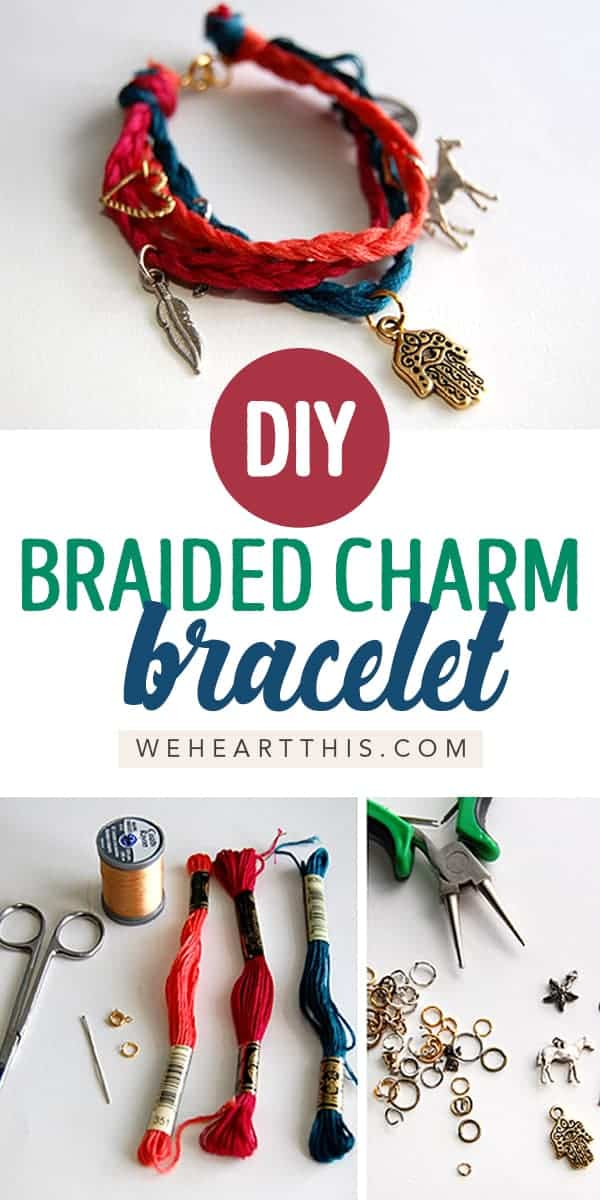 DIY Braided Charm Bracelet