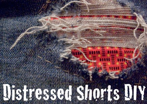 DIY Summer Staple: Distressed Shorts