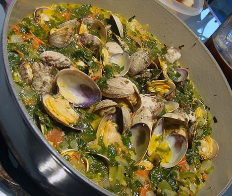 Warm things up: Billy's Clams with Wine Sauce