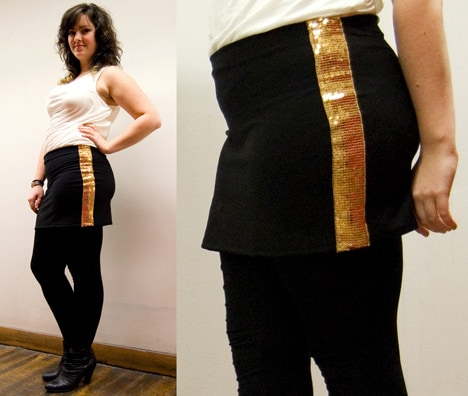 DIY: Holiday Sequin Skirt