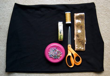 SequinSkirt3 DIY: Holiday Sequin Skirt