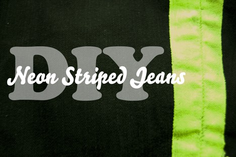 DIY: Neon Striped Jeans