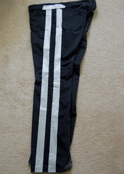 DIY NSJeans 3 DIY: Neon Striped Jeans