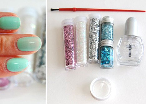 DIY Glitter Nail Polish 1 DIY: Customized Glitter Nail Polish