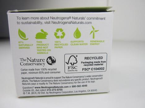 Neutrogena9 Neutrogena Naturals makes it easy to be green