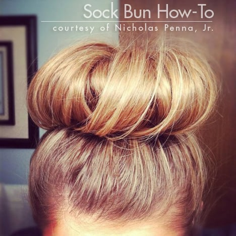 sock bun Easy Summer Hair   How To Style a Perfect Sock Bun