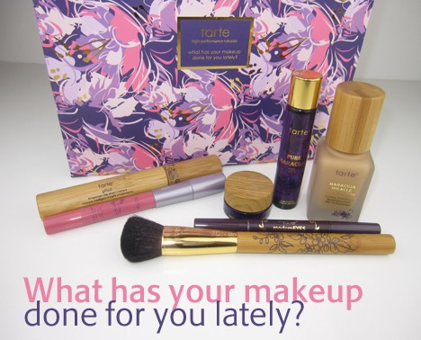 tarte0712A NEW tarte QVC Kit review   what has your makeup done for you lately?