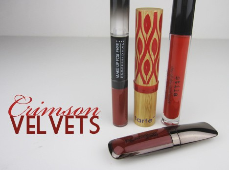 CrimsonVelvet red Pure Crimson Velvets: Pure Red: Stila Liquid Lipstick in Beso, tarte Glamazon Lipstick in Wild   review, photos & swatches