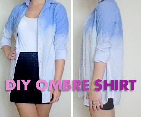 DIY: Ombré  Denim Shirt