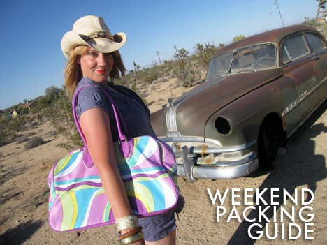 WeekendPacking How To: Pack for a Weekend Getaway