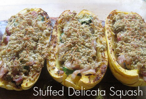 StuffedSquash1 Bacon Stuffed Delicata Squash Recipe