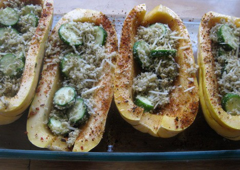 StuffedSquash4 Bacon Stuffed Delicata Squash Recipe
