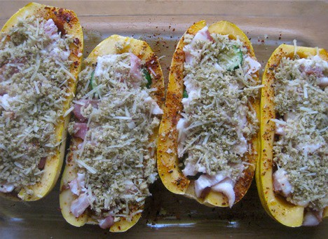 StuffedSquash6 Bacon Stuffed Delicata Squash Recipe