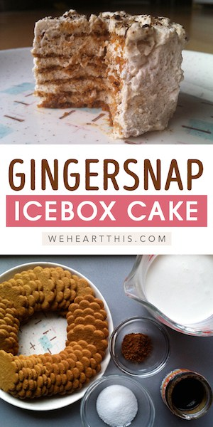 Delicious Gingersnap Icebox Cake