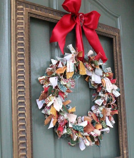 How-To: Rag Wreath and Lighted Garland Display
