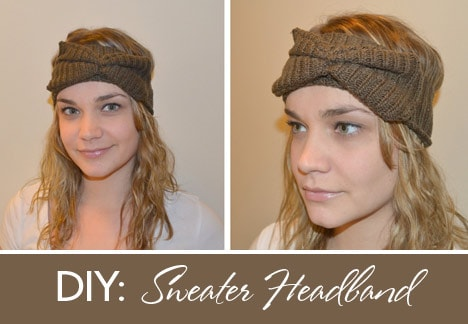 DIYheadband How To: From Old Sweater to Winterized Headband