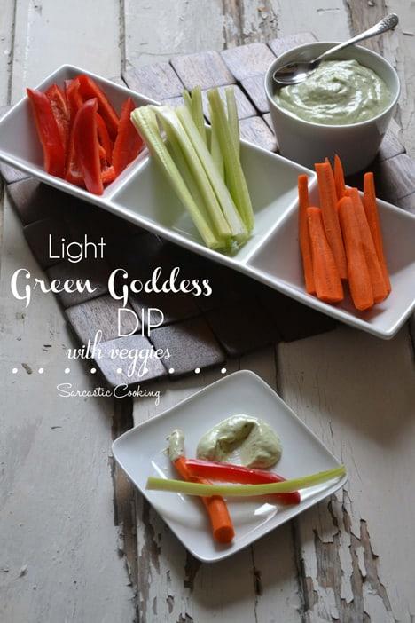 recipe for homemade light green goddess dressing