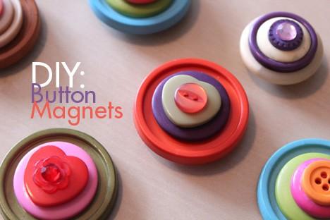 DIY: Cute as a Button Magnets