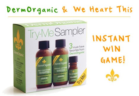 DermandWHT DermOrganic INSTANT Win Giveaway   a triple digit number of winners!