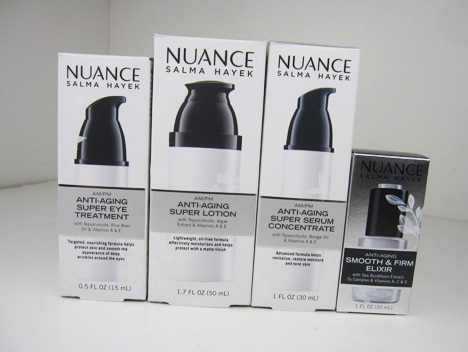 NuanceSkin1  Nuance Salma Hayek AM/PM Skincare collection Review