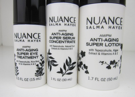 NuanceSkin2  Nuance Salma Hayek AM/PM Skincare collection Review