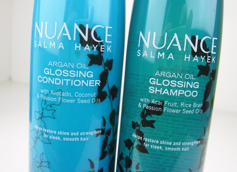 Nuancehaircare3 Nuance Salma Hayek Argan Oil Shampoo and Conditioner   review