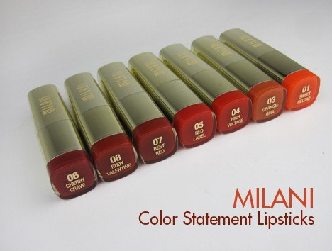 MilaniRed1 Milani Color Statement Lipstick   review, photos and swatches