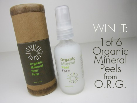 ORG giveaway GIVEAWAY: Organic Mineral Peel Face from O.R.G (6 winners!)