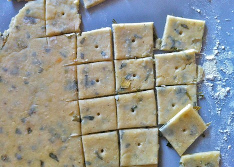 CheddarCrackers6 Cheddar and Leek Crackers Recipe