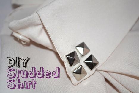 DIY Fashion: Studded Shirt Collar