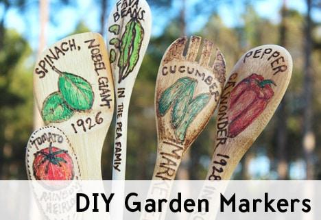 GardenMarkers82 DIY Garden   Wood Burned Vegetable Markers
