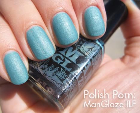 ManGlaze ILF matte nail polish