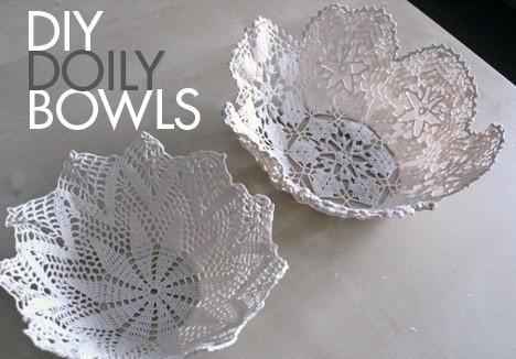 DIY Home Decor: Doily Bowls