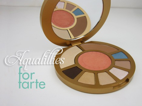 tarteAquapalette1 Aqualillies for tarte palette   swatches and review