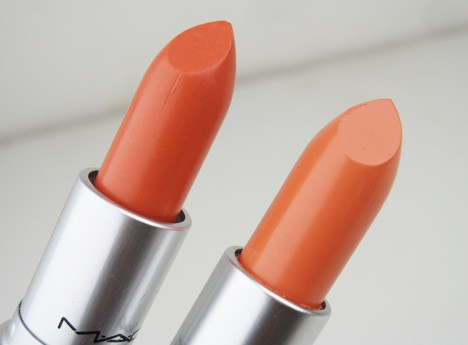 MACorange2 MAC All About Orange   swatches and review