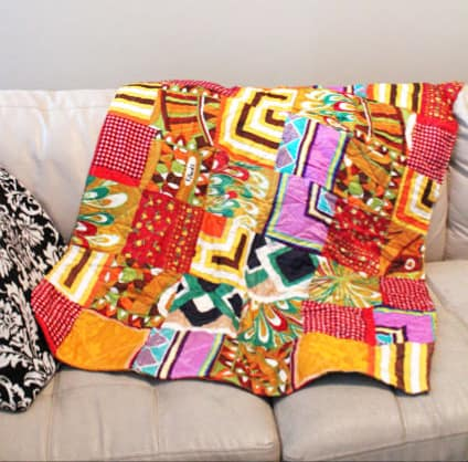 ScarfQuilt2 Thrift Store Score Vol. 3   Paoli silk scarf quilt