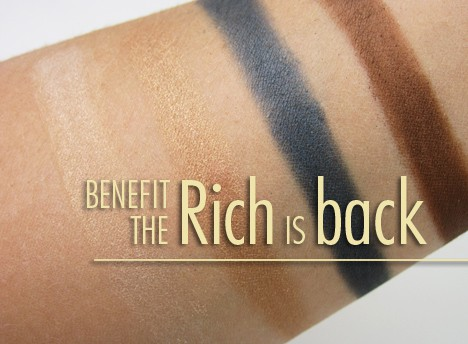 BenefitRich1 Benefit The Rich is Back palette   swatches & review