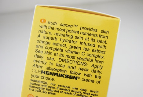 OleTruth9 Ole Henriksen Pure Truth Youth Activating Oil and Truth Serum Review