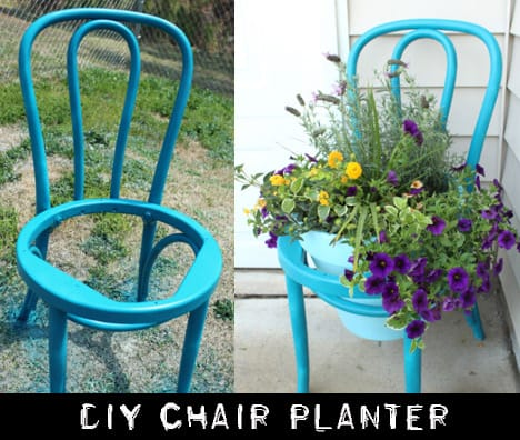DIT chair planter