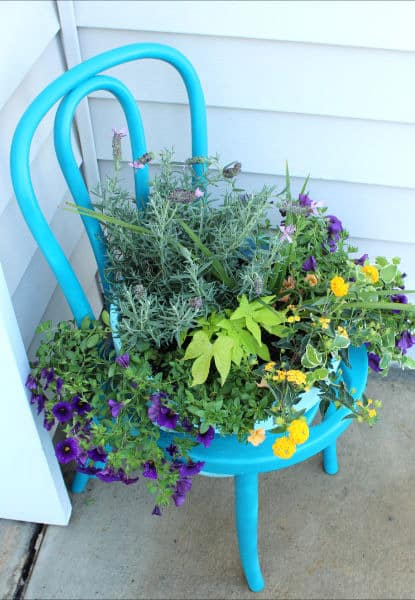 how to make a chair planter