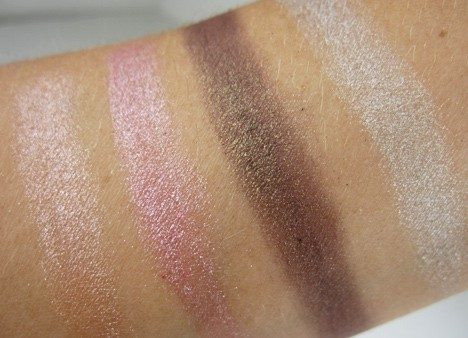MAC pressed pigment swatches