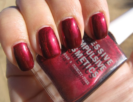 OCC Black Metal Dahlia nail lacquer swatch