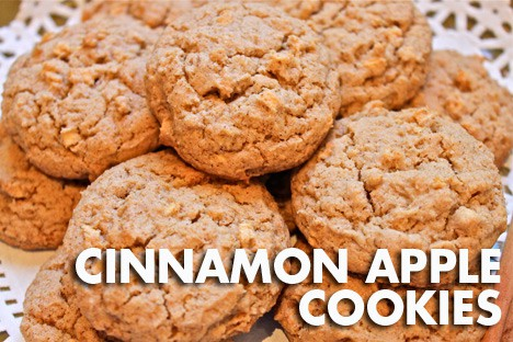 AppleCookies1 Cinnamon Apple Cookies Recipe